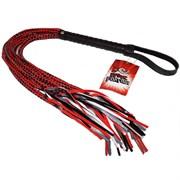 Плеть с глянцевыми шнурами 15 Tails Whip - 82 см.