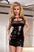 Платье Candy Girl с открытой спиной, wetlook, чёрное, OS