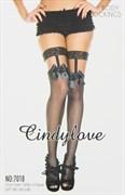"""Чулки """"CindyLove"""" черные 7018, OS, Black"""