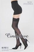 """Чулки """"CindyLove"""" черные 9001-G, OS, Black"""