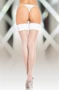 Чулки-сетка со шовом SoftLine Collection, белый, M