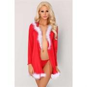 Новогоднее платье Monisa, с капюшоном, красное - L\XL